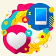Heart and mobile phone — Stock Vector #45011285