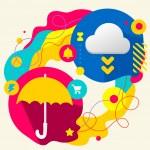 ������, ������: Umbrella and cloud