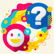 Smile and question mark — Stock Vector
