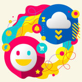Smile and cloud — Stock Vector