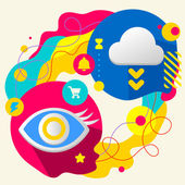 Eye and cloud — Stock Vector