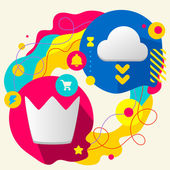 Crown and cloud — Stock Vector
