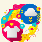 T shirt and cloud — Stock Vector