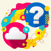 Cloud and question mark — Stock Vector