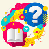 Book and question mark — Stock Vector