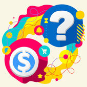 Dollar and question mark — Vetorial Stock