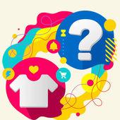 T рубашку и вопросительный знак — Cтоковый вектор