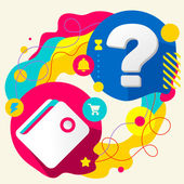 Wallet and question mark — Stock Vector