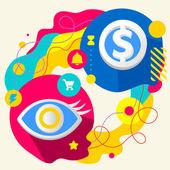 Eye and dollar sign — Vetorial Stock