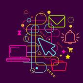 Symbols of office work — Stock Vector