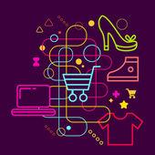 символы покупок — Cтоковый вектор