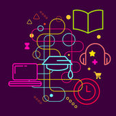 Symbols of higher education — Stock Vector