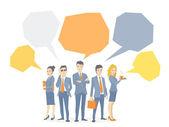 Векторная иллюстрация бизнес команды молодых деловых людей — Cтоковый вектор