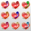 Set of hearts — Stock Vector #39624167