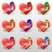 Set van harten — Stockvector