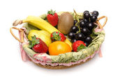 Some fruits in a basket — Foto Stock