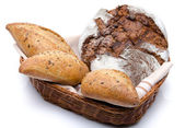Some breads in a basket — Stock Photo