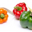Measuring tape with different peppers — Stock Photo #46541123