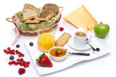 Composition of a breakfast — Stockfoto