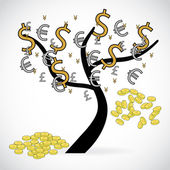 Concept of financial growth through an illustration with a tree — Stock Photo