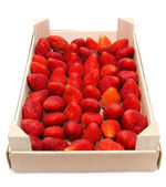 Strawberries crate — Stock Photo