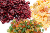 Assortiment of candied dried fruits — Stock Photo