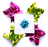 Composition with coloful bows — Stock Photo