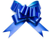 Shiny blue bow — Stock Photo