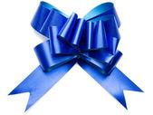 Shiny blue bow — Stock Photo