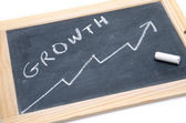 Concept about growth on a slate — Stock Photo