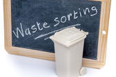 Concept about waste sorting with a trash can — Stock Photo