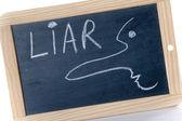Concept of liar — Stock Photo