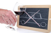 Drunk driving concept — Stock Photo
