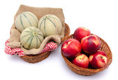 Melons and nectarines — Stock Photo