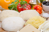 Ingredients to make a pizza — Stock Photo