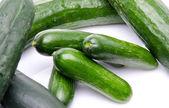 Fresh long and mini cucumbers — Stock Photo