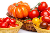 Composition of different varieties of tomatoes — 图库照片
