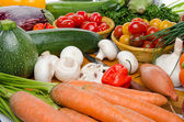 Composition with different fresh vegetables — Stockfoto