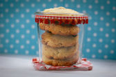 Jar full of Chocolate Chip Cookies — Stock Photo