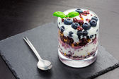 Healthy Meal with Berries and Yoghurt — Stock Photo