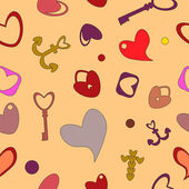Valentine's Day seamless pattern — Vector de stock
