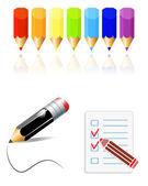 Pencils — Wektor stockowy