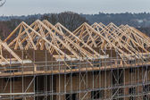 Wood house truss — Stock Photo