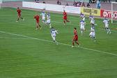 Russian football team — Stock Photo