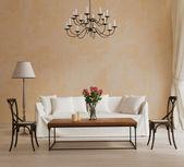 Provence style, romantic interior living room — Stock Photo