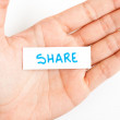 Showing share word — Stock Photo #41947955