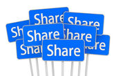 Share icon symbol board — 图库照片
