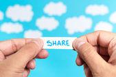Share ideas — Stock Photo