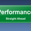Performance traffic sign — Stock Photo