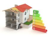 House 3D - energy efficiency — Stock Photo